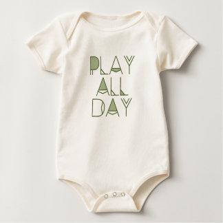 Modern Play All Day   Bohemian Tribal Text Baby Bodysuit