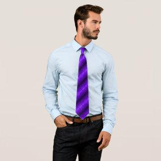 Modern Plum Silk Laser Foulard Tie
