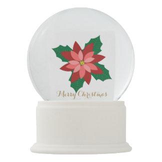 Modern Poinsettia Holiday Snow globes