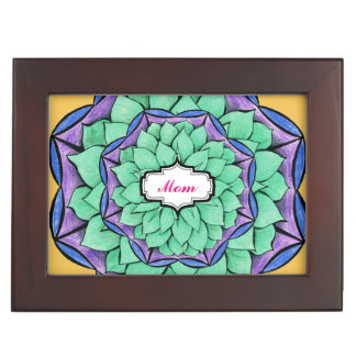 MODERN POINSETTIA in BLUE Keepsake Box