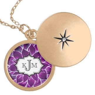 MODERN POINSETTIA in PURPLE DRAMA Custom Jewelry