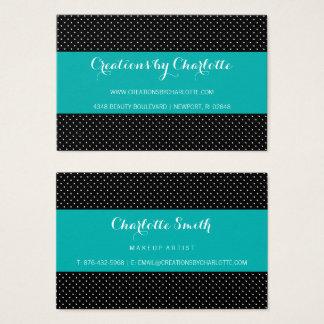Modern Polka Dot Business Card