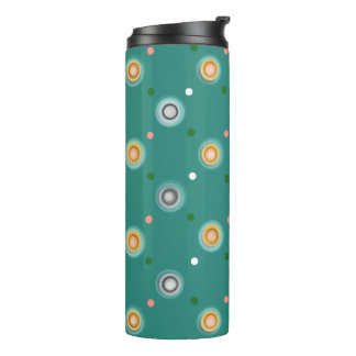 Modern Polka Dot Design Thermal Tumbler