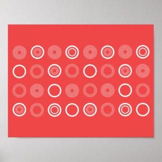 Modern polka dot pattern poster