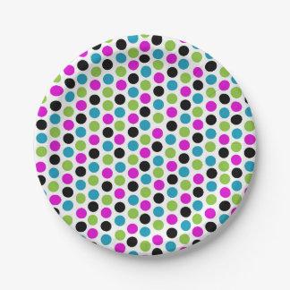 Modern Polka Dot Plate 7 Inch Paper Plate