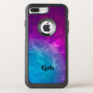 Modern Polygonal Purple & Blue Geometric Design OtterBox Commuter iPhone 8 Plus/7 Plus Case