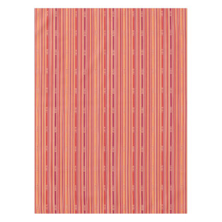 Modern Pomegranate Stripes & Boxes Tablecloth