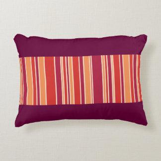 Modern Pomegranate Stripes Decorative Cushion