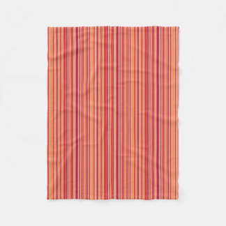 Modern Pomegranate Stripes Fleece Blanket