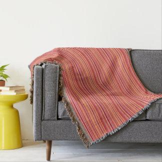 Modern Pomegranate Stripes Throw Blanket