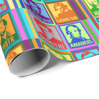 Modern Pop Art Classical Music Composers Wrapping Paper