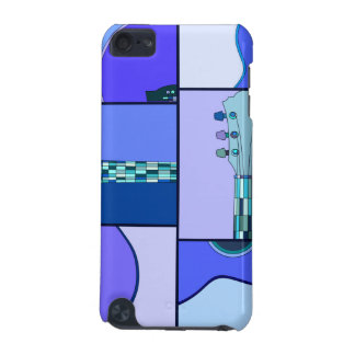Modern Pop Art Guitar in Shades of Blue iPod Touch 5G Case
