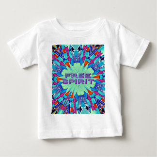 Modern Pop Colors Arrows Pointing Free Spirit Baby T-Shirt