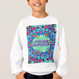 Modern Pop Colors Arrows Pointing Free Spirit Sweatshirt