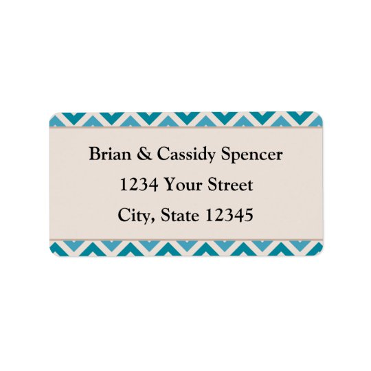 Modern Pre-printed Blue Christmas Address Labels