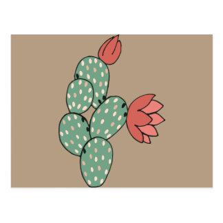 Modern Prickly Pear Cactus Postcard