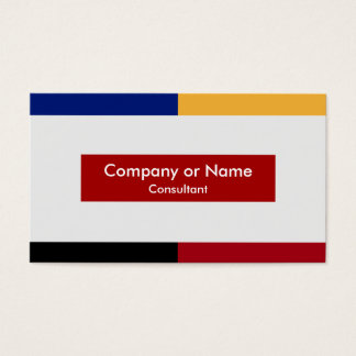 Modern Primary Colors Business Card