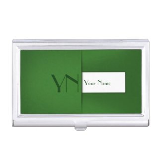 Modern Profession Green Case Business Card Holder