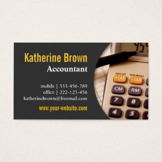Modern, Professional, Accountant, Tax, Calculator Business Card