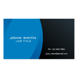 Modern Professional Blue and Black Pack Of Standard Business Cards