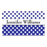 Modern Professional Blue Polka Dot Business Card