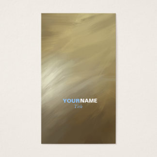 Modern Professional Brush Stroke Gold Business Card