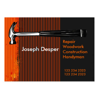 Modern Professional Construction Mr.Handyman Pack Of Chubby Business Cards