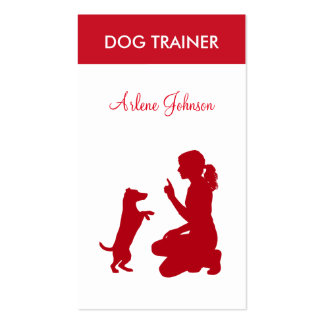 Modern Professional Dog Trainer Pack Of Standard Business Cards