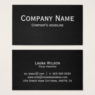 Modern Professional Elegant Black Simple Business Card