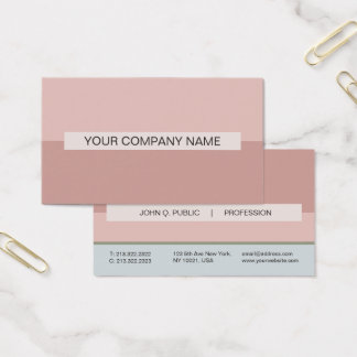 Modern Professional Elegant Colors Combo UV Matte Business Card