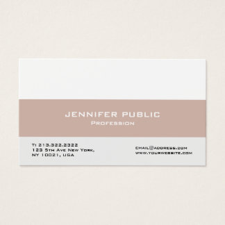 Modern Professional Elegant Create Your Own Business Card