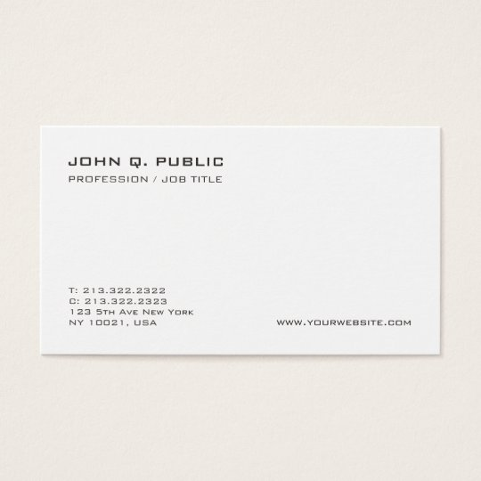 Modern Professional Elegant Plain Minimalistic Business Card