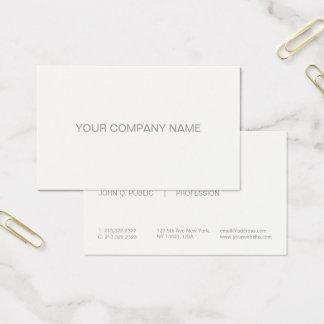 Modern Professional Elegant Simple Signature Cream Business Card