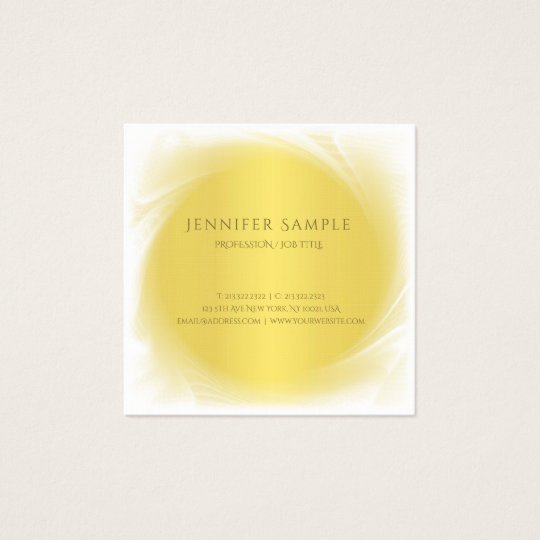 Modern Professional Elite Gold Look Design Luxury Square Business Card
