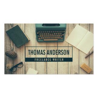 Modern Professional Freelance Writer Typewriter Pack Of Standard Business Cards