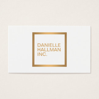 Modern Professional Gold Name Logo Business Card