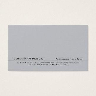 Modern Professional Grey Creative Simple Plain Business Card