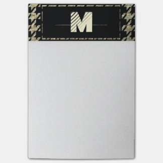 Modern Professional Houndstooth Monogram Post-it® Notes