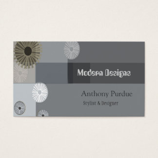 Modern Professional  Mid-Century  Retro Business Card