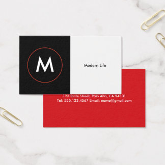 Modern Professional Monogram Business Card