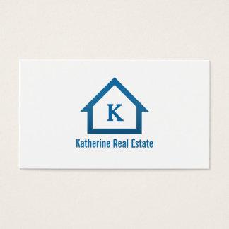 Modern Professional Monogram Real Estate Realtor Business Card