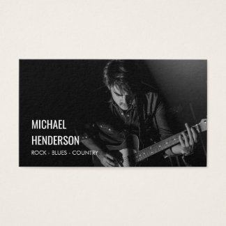 Modern Professional Musician Photo Business Card