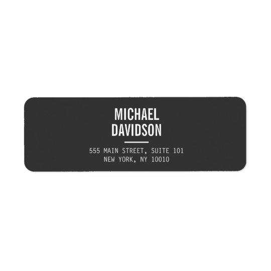 MODERN PROFESSIONAL No. 4 Return Address Label