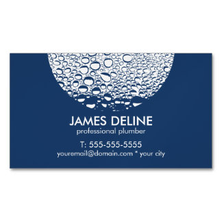 Modern Professional Plumber Magnetic Business Card