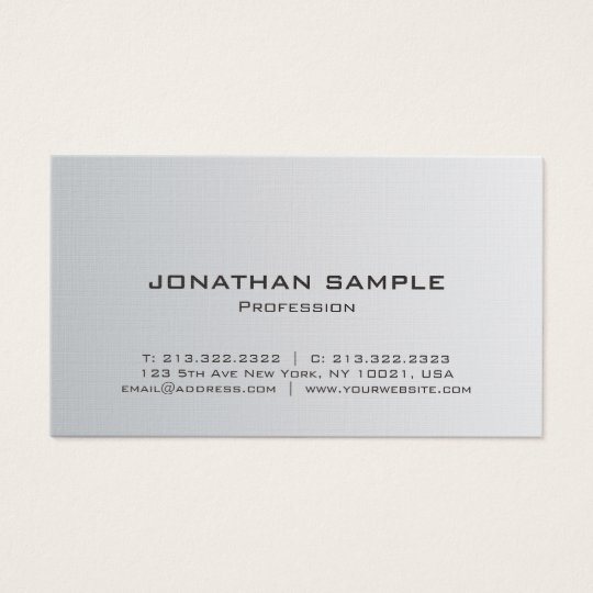 Modern Professional Silver Look Minimalist Luxe Business Card