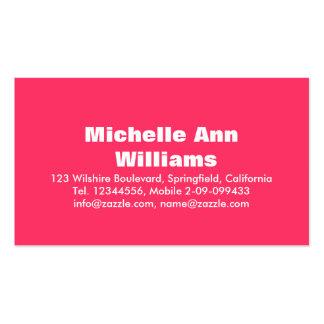 Modern Professional Sleek Pink Business Card