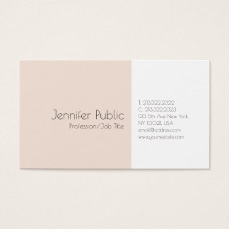 Modern Professional Sleek Plain Elegant Colors Business Card