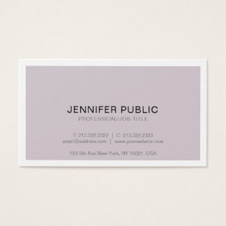 Modern Professional Sophisticated Design Simple Business Card