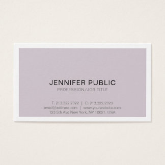 Modern Professional Sophisticated Simple Design Business Card