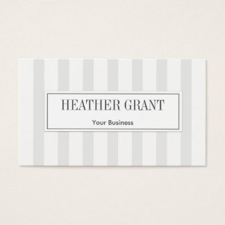 Modern Professional Stripe Business Cards